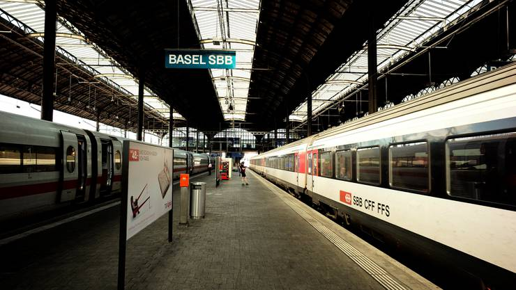 Ein Bahnsteig des SBB