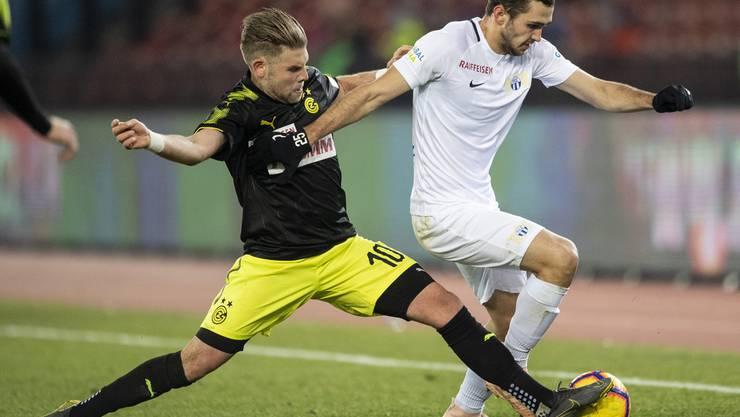 Auch Yoric Ravet kann die dritte Derby-Niederlage von GC nicht verhindern.