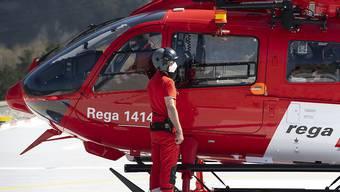 Ein Helikopter der Schweizerischen Rettungsflugwacht Rega. (Archivbild)
