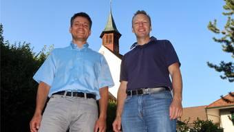 Die beiden verbleibenden Kirchenpfleger Oliver Huber (l.) und Peter Leuenberger hoffen auf einen neuen Pfarrer und neue Mitglieder in der Kirchenpflege Uerkheim. ran
