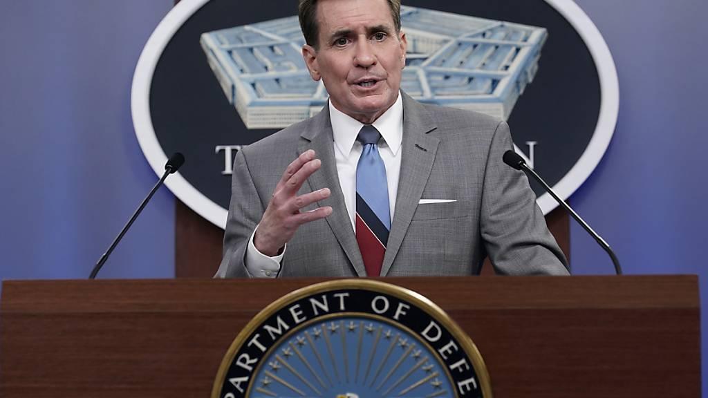 Pentagon-Sprecher John Kirby spricht während einer Pressekonferenz im Pentagon. Foto: Susan Walsh/AP/dpa/Archiv