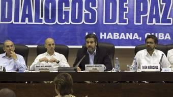 Regierungs- und FARC-Vertreter in Havanna