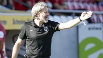 Energischer und lautstarker Antreiber an der Seitenlinie: FCA-Trainer Stephan Keller
