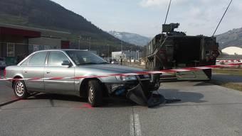 Nach dem Zusammenstoss (Bildquelle: Kantonspolizei Schwyz)