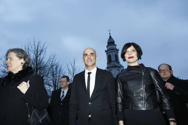 Bundesrat Alain Berset und seine Ehefrau Muriel Zeender Berset besuchen Solothurn, in Begleitung von Christine Beerli und Ivo Kummer