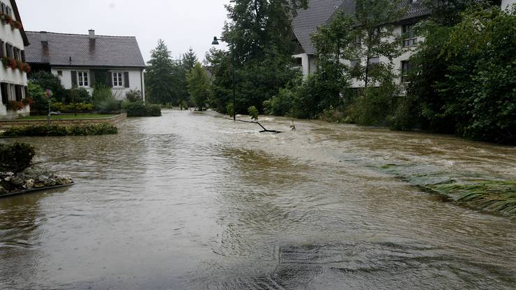 2007 verursachte das Hochwasser am Birsig einen Schaden von zwei Millionen Franken.