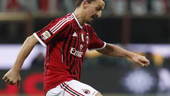 Milan hofft heute auf Tore von Zlatan Ibrahimovic