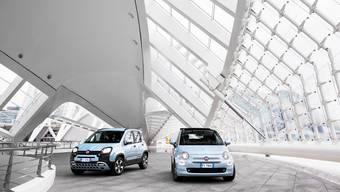 Funktional (Fiat Panda, links) oder stylish (Fiat 500, rechts): Beides will Fiat mit seinen ersten Hybridmodellen abdecken.