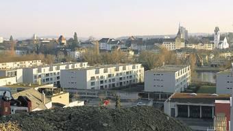 Blick vom Hungerberg auf die Altstadt - dazwischen wurde mit dem Aarepark verdichtet gebaut.