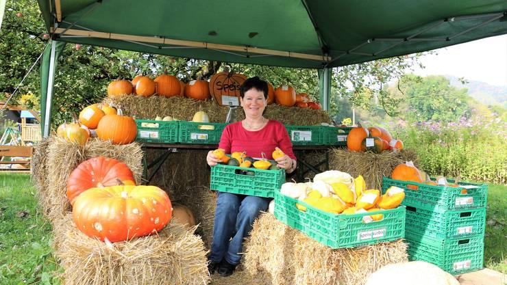 In den Herbstferien bedienten sich viele am Kürbisstand von Helen Schmid.