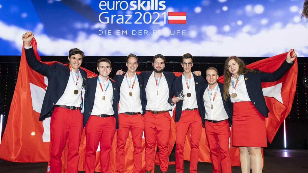 Rekord: Schweizer Lernende holen an Berufs-EM sechs Goldmedaillen
