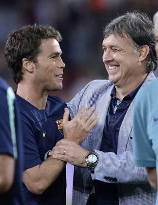 Barça-Trainer Gerardo Tata Martino freut sich