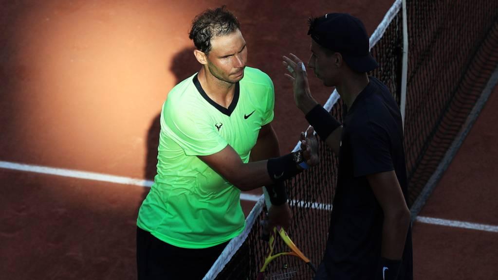 Wieder im geliebten Pariser Rampenlicht: Rafael Nadal setzte sich gegen den Australier Alexei Popyrin problemlos in drei Sätzen durch