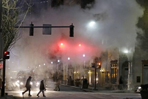 Eisige Temperaturen in Pittsburgh.