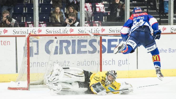 ZSC liegt 0:2 in Rückstand gegen Bern.
