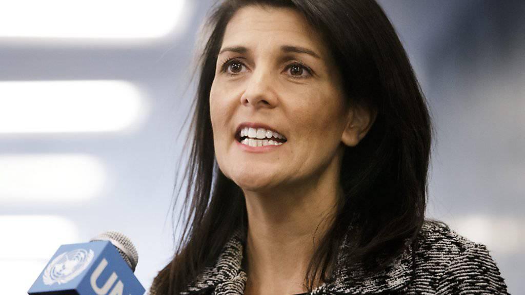 Sie kündigt einen neuen Arbeitsstil an: Die neue Botschafterin der USA bei den Vereinten Nationen, Nikki Haley.