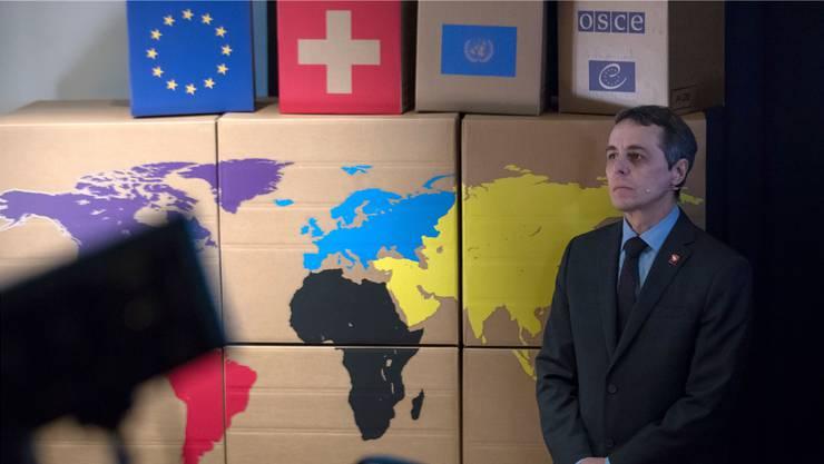 Was holt er für die Schweiz heraus? Aussenminister Ignazio Cassis.