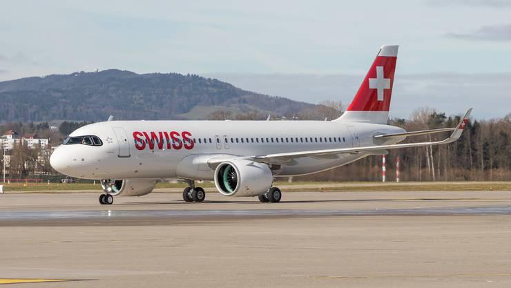 Noch ist es ganz unverbraucht: das neuste Flugzeug der Swiss.