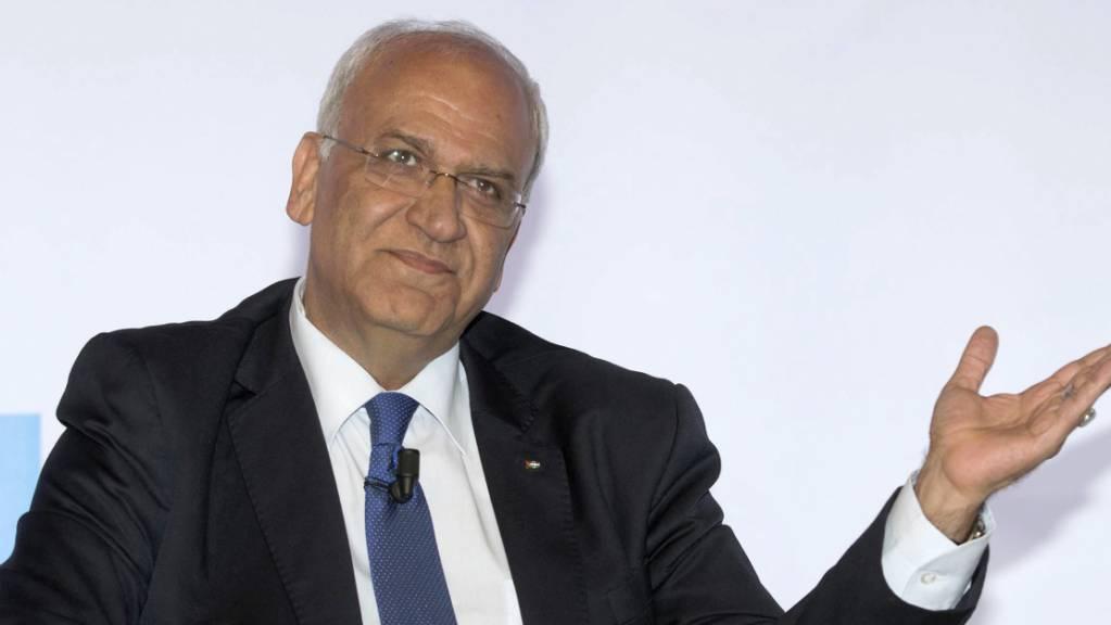 Der palästinensische Chefunterhändler Saeb Ereka Ende 2015.