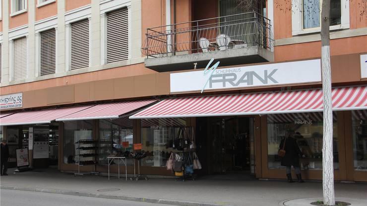 Das Schuhhaus Frank schliesst im Laufe dieses Jahres seine Filiale in Brugg. Claudia Meier