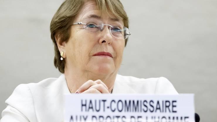Michelle Bachelet am Montag in ihrer Antrittsrede vor dem Uno-Menschenrechtsrat in Genf.
