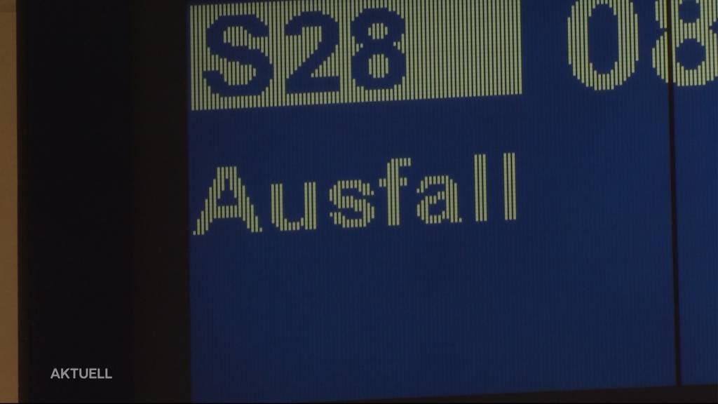 Zugausfälle zwischen Zofingen und Lenzburg: Pendler brauchen doppelt so lange