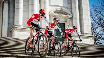 Das Trio des Bike Team Solothurn