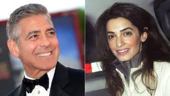 Sind verlobt: George Clooney und Amal Alamuddin.