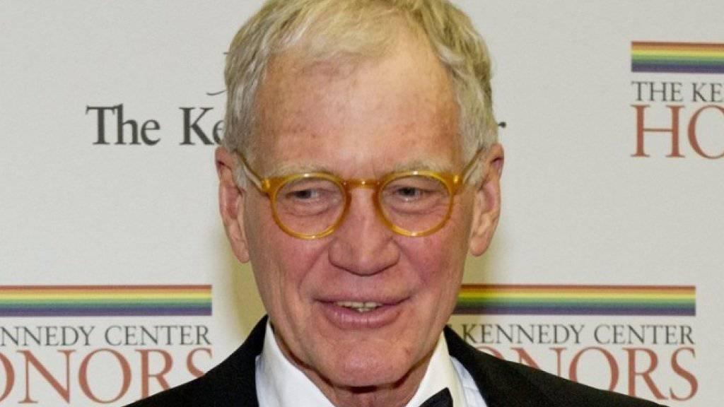 Monate nach dem Ende seiner Talkshow-Karriere tritt David Letterman wieder vor die Kamera (Archivbild)