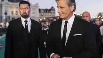 Als erster Stargast am 14. Zurich Film Festival schreitet Schauspieler Viggo Mortensen über den Grünen Teppich.