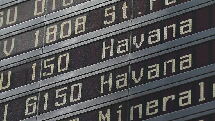 Destination Havanna: Das soll bald an US-Flughäfen zu lesen sein (Symbolbild).