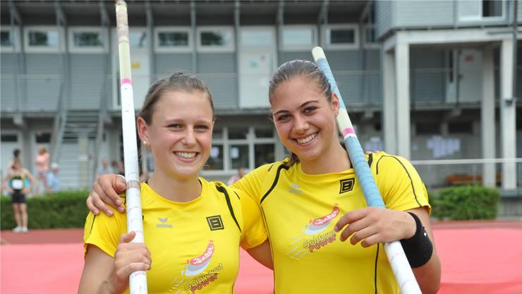 Wollen in Arlesheim die Konkurrenz herausfordern: Die beiden Baslerinnen Pascale Stöcklin und Lea Bachmann (beide AS Old Boys Basel).