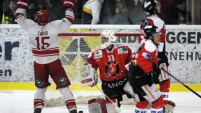 Lausannes Daniel Corso (l.) bejubelt das 2:0 durch Dostoinov.