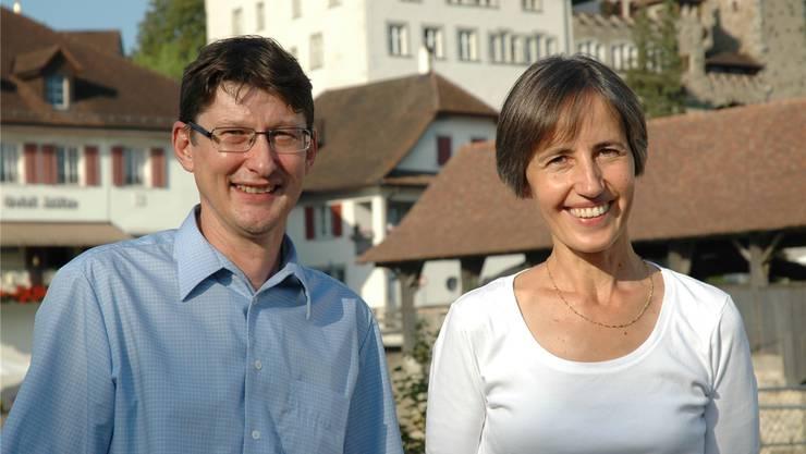 Offiziell aufgestellt von der CVP: Rolf Meier und Bernadette Sutter.
