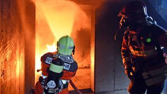 Brandbekämpfung im Gebäudeinnern stand auf dem Stundenplan.