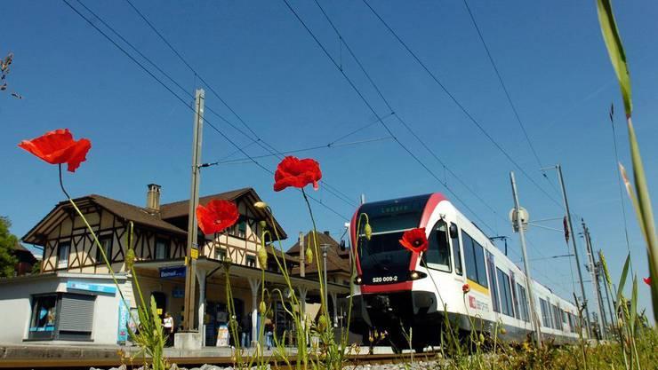 Die Seetal-Bahn war wegen eines Unfalls gesperrt.