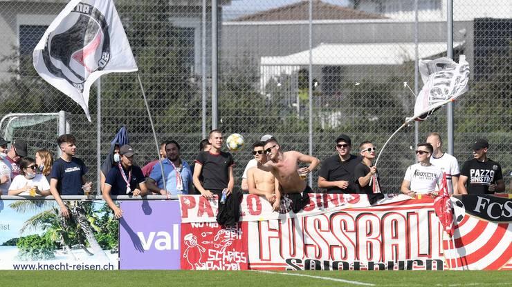 Knapp 100 FCS-Fans sind nach Schöftland mitgereist.