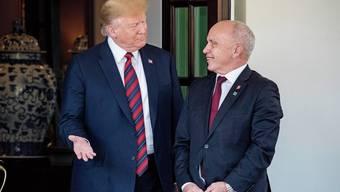 US-Präsident Donald Trump empfing gestern den Bundespräsidenten Ueli Mauer.