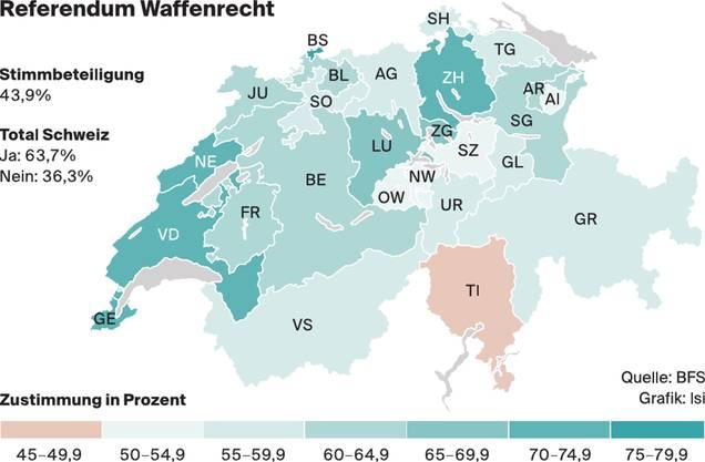So stimmte die Schweizer Bevölkerung ab.