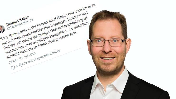 Der Thurgauer Politiker Thomas Keller nimmt Adolf Hitler in Schutz.