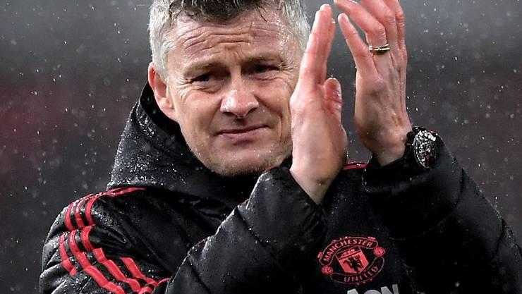 Manchester Uniteds Trainer Ole Gunnar Solskjaer erhielt einen Vertrag bis Sommer 2022