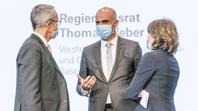 Bundesrat Alain Berset zu Besuch in Muttenz.