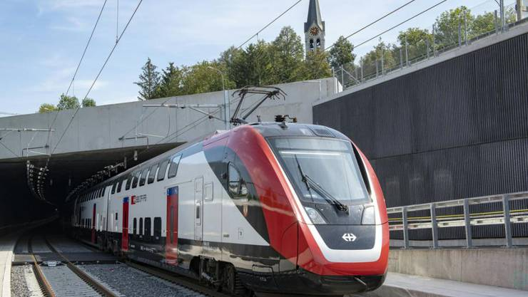 Der neue Eppenberg-Tunnel wird mit dem Fahrplanwechsel am 13. Dezember offiziell in Betrieb genommen. (Archivbild)