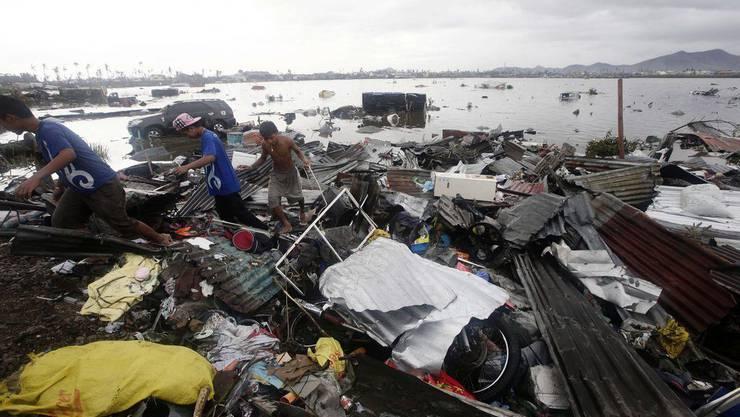 Taifun «Haiyan» hinterliess auf den Phillipinen eine Spur der Zerstörung