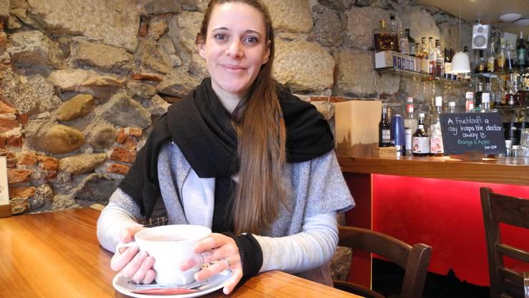 Elisabeth Schubiger vor dem Abflug nach Kenia.