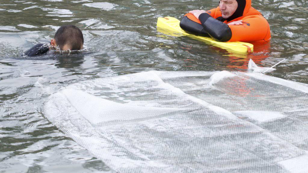 Suche nach einem vermissten Schwimmer im Hallwilersee. (Symbolblid)