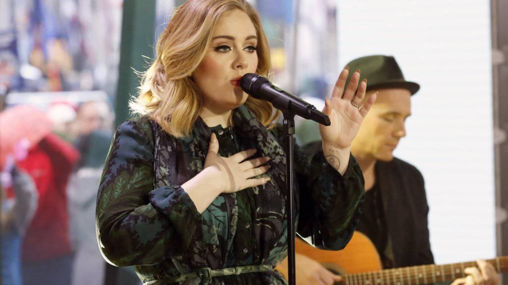"""Adele am Mittwoch in der """"Today""""-Show, in der sie bekanntgab, dass sie eventuell weitere Songs einem Streamingdienst zur Verfügung stellt."""