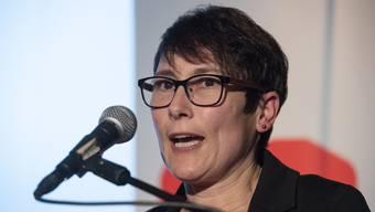Colette Basler am Parteitag der SP Aargau.