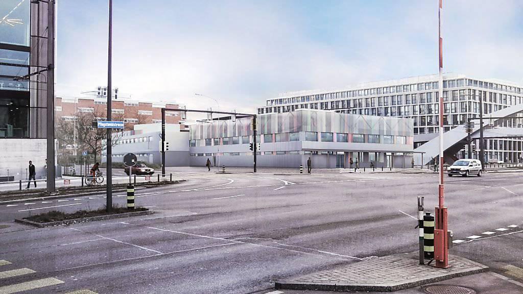 Auf dem Duttweiler Areal in Zürich-West soll ein dreistöckiges Gebäude für 360 Flüchtlinge gebaut werden. (Archiv)