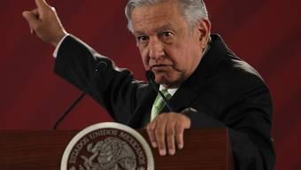 """""""Man weiss gar nicht, wo dieses Geld landet"""": Mexikos Präsident Andres Manuel Lopez Obrador. (Archivbild)"""